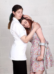Nurse abusing position with teenage girl