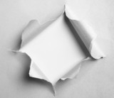 gray torn paper with square shape