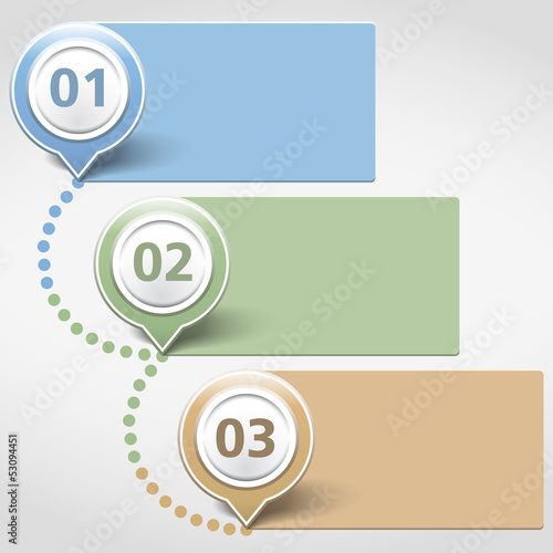 Design Template with Three Banners