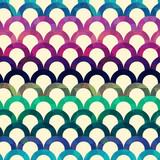 seamless retro scallop vector background