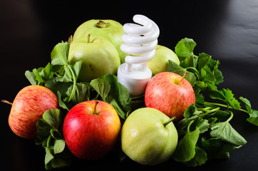 Fruits and vegetables are the food for energy