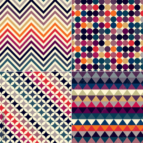 seamless retro vector pattern