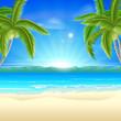 Beach summer holiday background