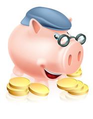 Pensioner savings concept