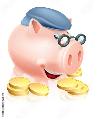 Pensioner savings concept