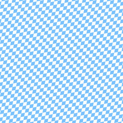 Seamless Pattern Octoberfest Light Blue/White Diagonal