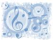 Música - Fundo azul com notas musicais