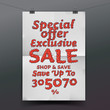 Sale poster with percent discount, vector Eps10 illustration.