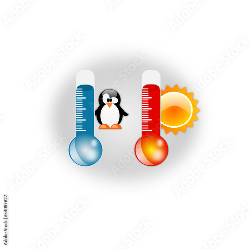 Thermometer hot and cold temperature