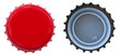 Red Metal Bottle Cap - Both Sides - 53097826