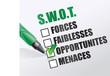 swot / FORCES, FAIBLESSES, OPPORTUNITES, MENACES