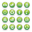 Ecology web icons green buttons.Ecology icon set