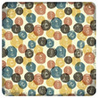 Colorful vintage seamless pattern (balls doodles). Vector
