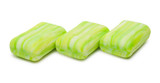 Row of green soap