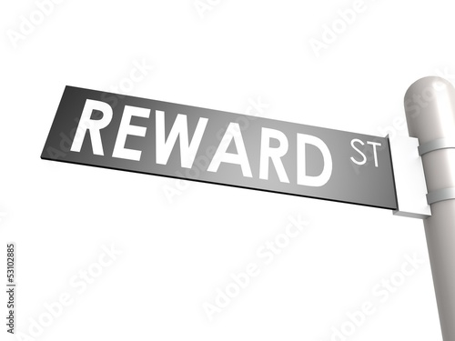 Reward street sign