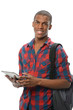 African American Student Using Electronic Pad