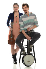 Couple With Musical Instruments