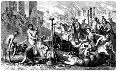 Ancient Rome : Roman Legion Pillaging Greece