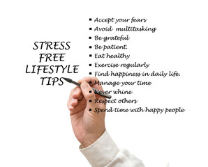 Stress free lifestyle tips