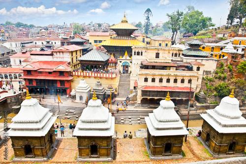 Foto Spatwand Nepal Pashupatinath Temple complex in Kathmandu, Nepal.
