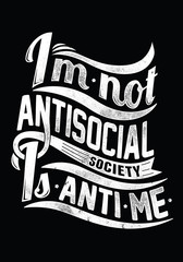 Not antisocial