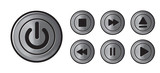 Player icons metall buttons