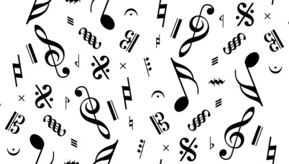music note seamless