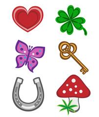 Glückssymbole, set 1