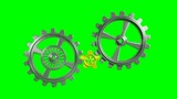 Cogwheels - Animation - Green Background