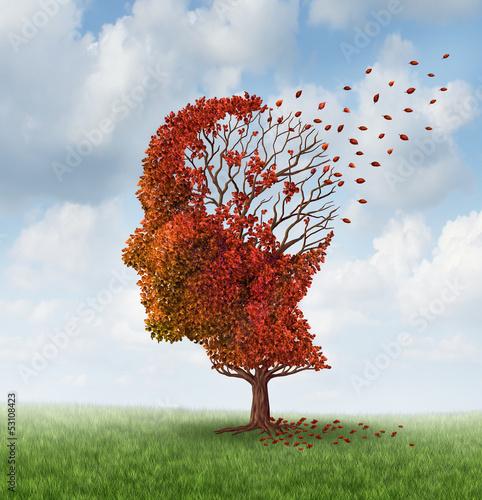 Leinwandbild Motiv Losing Brain Function