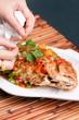 Food Stylist Plating Fish