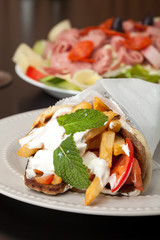 Greek Gyro and Antipasto Salad