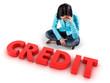 Girl before credit