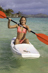 girl with surfski
