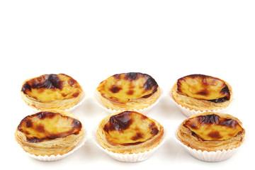 "traditional portuguese cream cakes ""pasteis de nata"" isolated on"