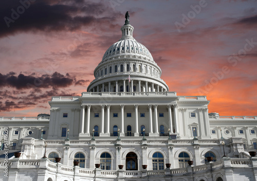 Capitol Dome with Sunrise Sky