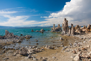 Tufa Formation in Mono Lake,California
