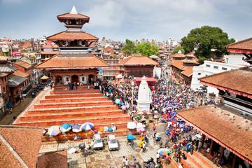 Durbar square in  Bhaktapur in Kathmandu valley, Nepal.