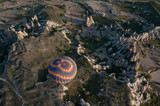 Hot air balloon over the valley at Cappadocia, (Turkey)