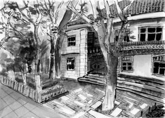 xiamen gulangu house sketch