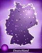 Abstrakte Deutschlandkarte