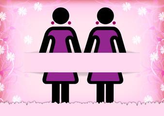 Hochzeitskarte zur Gleichgeschlechtlichen Ehe