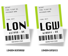 Airport tag bags - Londres