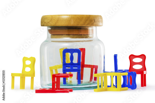 Chair in a glass jar