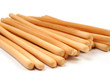 Breadsticks on white background