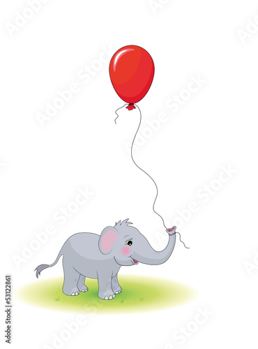 Elefant mit Luftballon