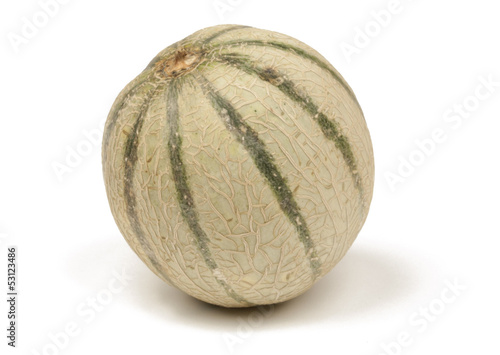 Honeydew melon isolated on white with path
