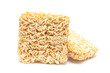 dried Instant noodles on a white background