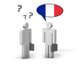 Fototapety Business French Language Concept