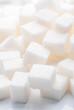 plenty of white sugar cubes backlit